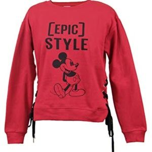 Disney Mickey Mouse Red Epic Style Side Tie M